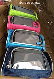 Сумка для путешествий, Велосумка на руль под смартфон (Голубая), Органайзеры, косметички, кофры, фото 9