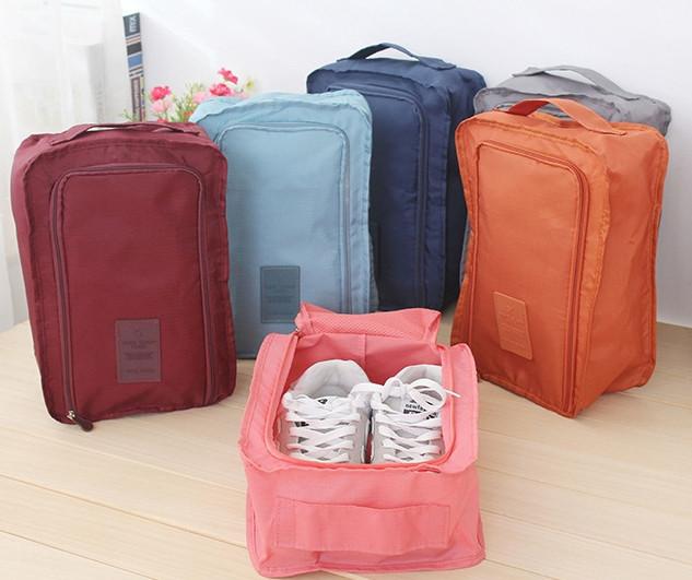 Дорожный органайзер сумка чехол для обуви, в зал или на пляж. Серый, Органайзеры, косметички, кофры