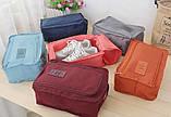 Дорожный органайзер сумка чехол для обуви, в зал или на пляж. Бордовый, Органайзеры, косметички, кофры, фото 3