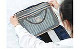 Дорожная сумка органайзер для путешествий с ручкой на чемодан Серая, Органайзеры, косметички, кофры, фото 3