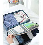 Дорожная сумка органайзер для путешествий с ручкой на чемодан Серая, Органайзеры, косметички, кофры, фото 4