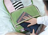 Дорожная сумка органайзер для путешествий с ручкой на чемодан Серая, Органайзеры, косметички, кофры, фото 5