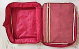 Дорожная сумка органайзер для путешествий с ручкой на чемодан Серая, Органайзеры, косметички, кофры, фото 6