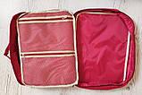 Дорожная сумка органайзер для путешествий с ручкой на чемодан Серая, Органайзеры, косметички, кофры, фото 7