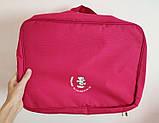 Дорожная сумка органайзер для путешествий с ручкой на чемодан Серая, Органайзеры, косметички, кофры, фото 8