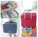 Дорожная сумка органайзер для путешествий с ручкой на чемодан Синяя, Органайзеры, косметички, кофры, фото 2