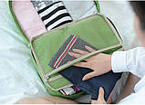 Дорожная сумка органайзер для путешествий с ручкой на чемодан Синяя, Органайзеры, косметички, кофры, фото 5