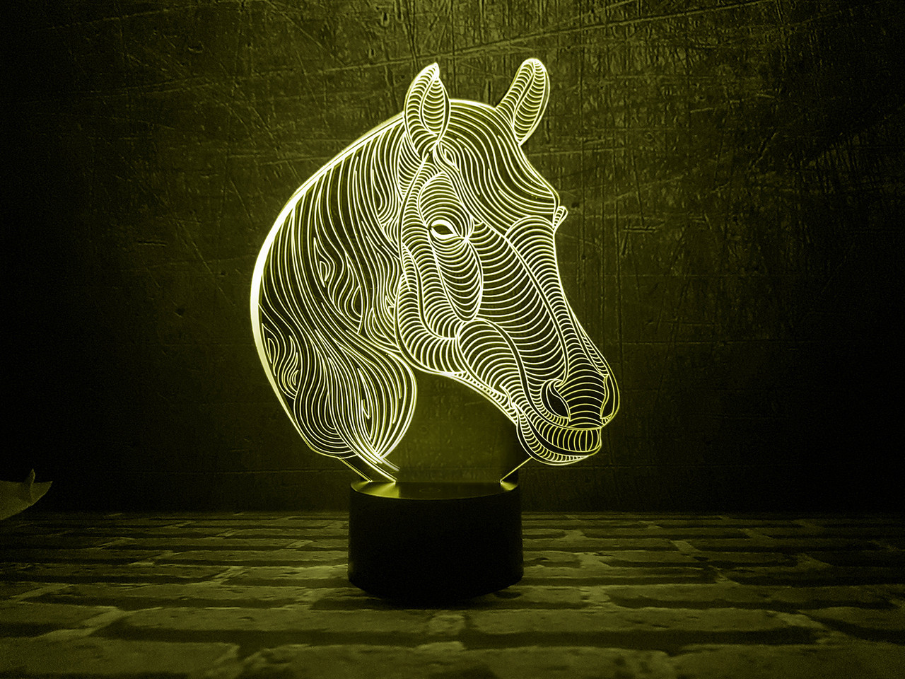 """Детский ночник - светильник """"Лошадка 2"""" 3DTOYSLAMP"""