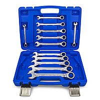 Набор комбинированных гаечных ключей с трещоткой размеры 8-19 (12 предметов) HASKYY®