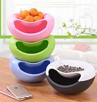 Миска для семечек, чипсов с подставкой для телефона Нежно-сиреневая, товары для кухни, товары для дома