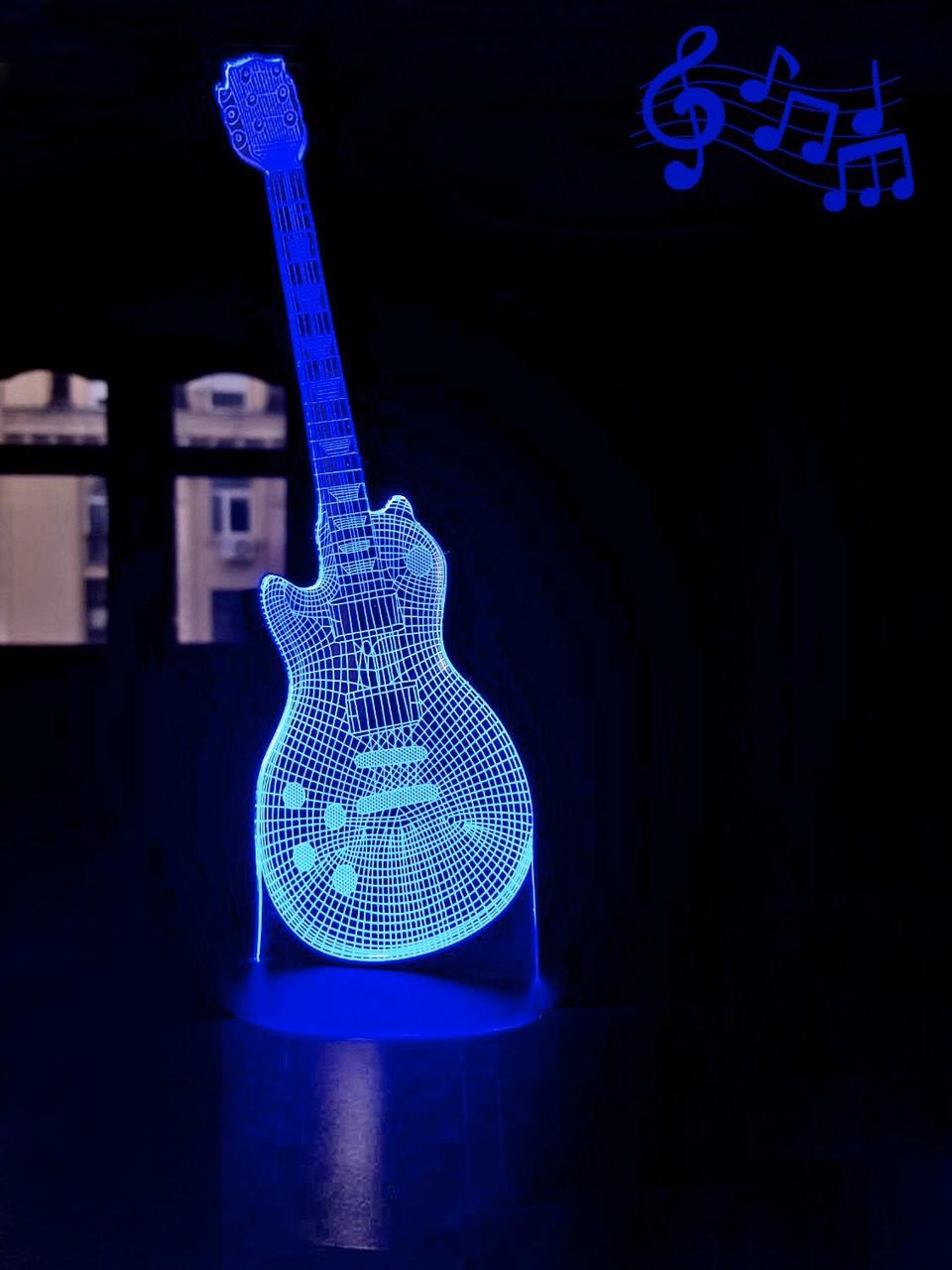 3D светильник 3DTOYSLAMP Гитара 4