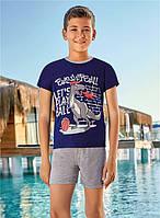 Костюм детский летний для мальчика футболка с шортами из хлопка Berrak 5349