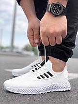 Мужские текстильные белые летние кроссовки сетка, фото 2