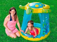 Детский надувной бассейн с надувным дном Bestway 52219 (109-96-94 см) Черепаха