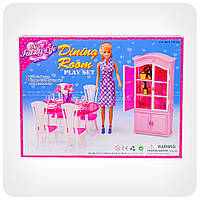 Детская игрушечная мебель Глория Gloria для кукол Барби столовая 24011. Обустройте кукольный домик, фото 1
