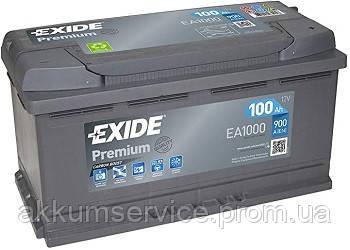 Аккумулятор автомобильный Exide Premium 100AH L+ 900А (EA1000)
