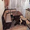 Кухонный уголок Лорд с раскладным столом +2табурета, фото 4