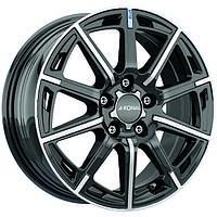 Литые диски Ronal R60 Blue R16 W6.5 PCD5x105 ET39 DIA56.6 (jet black front diamond cut)
