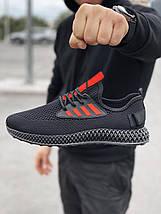 Мужские текстильные черные летние кроссовки сетка, фото 2
