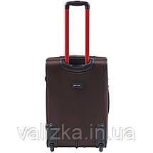 Средний текстильный чемодан кофейный с расширителем Wings 214, фото 3