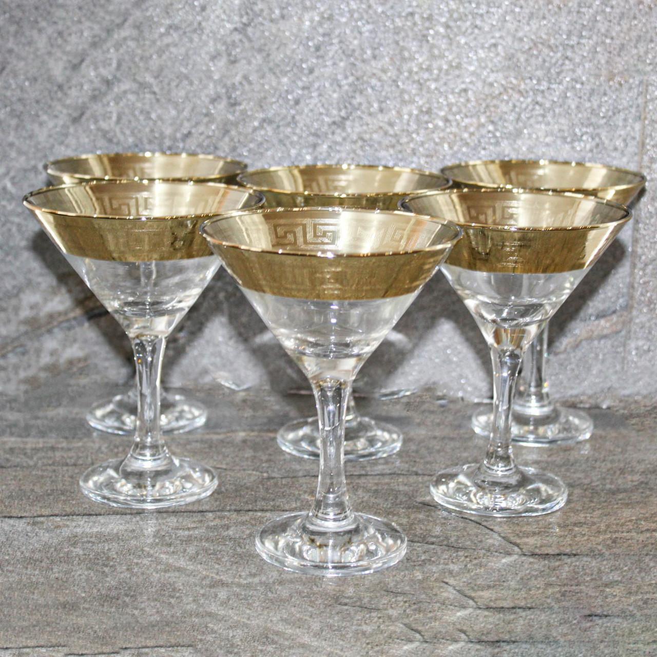 "Набор бокалов для мартини с золотым декором ""Версаче-Голд"" 6 шт (TAV91-410/S)"