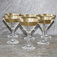 "Набор бокалов для мартини с золотым декором ""Версаче-Голд"" 6 шт (TAV91-410/S), фото 1"