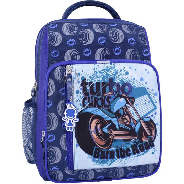 Рюкзак школьный 8 л. синий 551 (0012870)