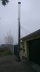 Комплект димоходу утеплений ф100/160 нерж/нерж AISI 304, 0,5 мм