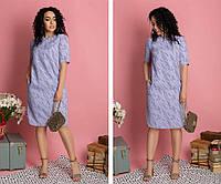 Платье женское летнее 6245-1 сиреневое