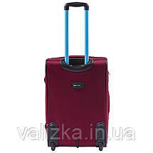 Средний текстильный чемодан красный с расширителем Wings 214, фото 3