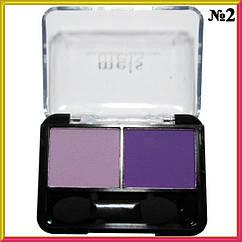 Тени для Век Meis MS-0225 Двойные Матовые Фиолетового Цвета Тон 02, Косметика,  Макияж Глаз