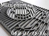 Решетка гриль чугунная для барбекю и мангала BBQ GRILL FISH 380*550 мм (Рыбы)