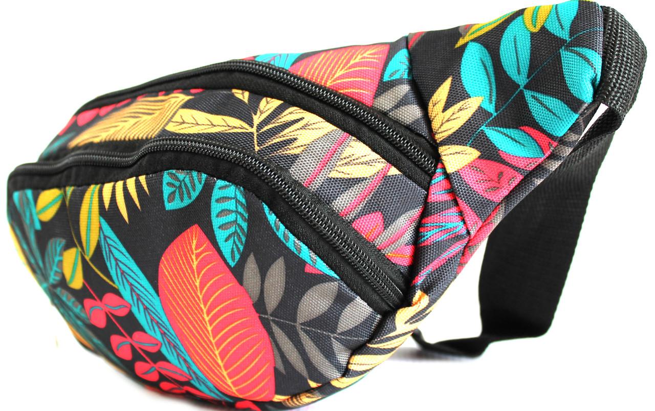 """Красочная сумка-бананка на пояс или через плечо """"YR Х156"""""""
