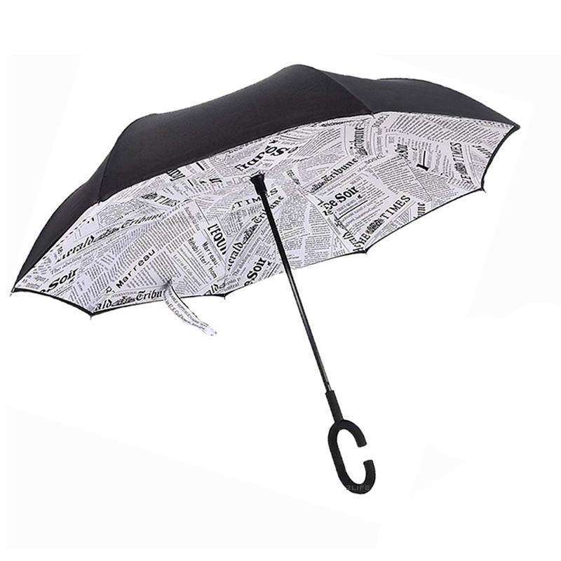 Зонт обратного сложения Up-brella чехол Journal White (n-74)