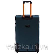 Большой текстильный чемодан темно-синий на 2-х колесах  Wings 214, фото 3