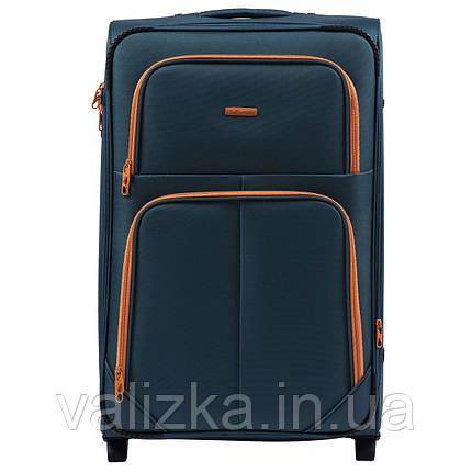 Большой текстильный чемодан темно-синий на 2-х колесах  Wings 214, фото 2
