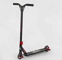 Самокат трюковый Best Scooter 94655 черный HIC-система ПЕГИ алюминиевый диск и дека