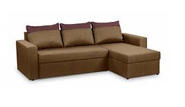 Диван угловой PROGRESS sofas&beds Голливуд N левый 230х151 см Коричневый