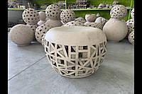Світлодіодний світильник садовий декоративний КРІСЛО плетене
