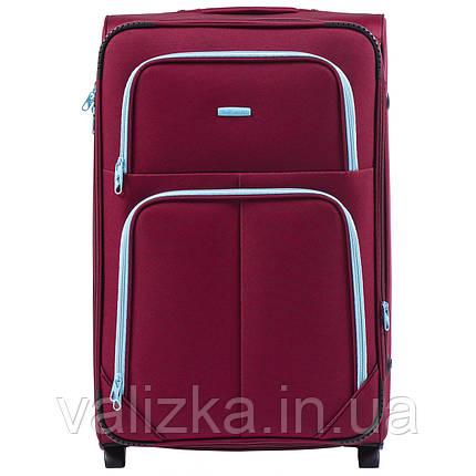 Большой текстильный чемодан красный на 2-х колесах  Wings 214, фото 2