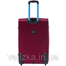 Большой текстильный чемодан красный на 2-х колесах  Wings 214, фото 3