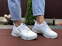 Женские кроссовки белые 9507