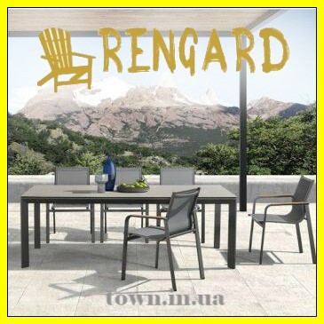 Обеденный стекляный стол Rona Rengard 200х100х75. Стол для улицы,для террасы,для дома,для кухни