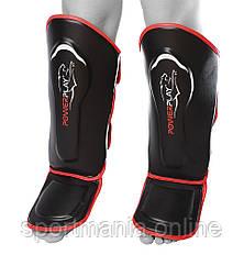 Защита голени и стопы PowerPlay 3052 черно-красная L