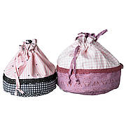 ПРАССЛА Сумка, 2 шт., розовый, сиреневый, 60238914, ИКЕА, IKEA, PRASSLA
