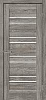 Двери межкомнатные Rino 01 Natural Look стекло чёрное