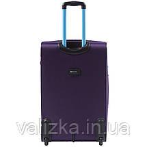 Комплект текстильных чемоданов на 2-х колесах Wings 214  с расширителем, фиолетового цвета, фото 2