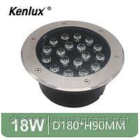 Світильник грунтовий K-2802 LED 18W 230V розмір 180мм * 90мм IP65 GREEN, фото 2