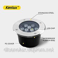 Світильник грунтовий K-2802 LED 18W 230V розмір 180мм * 90мм IP65 GREEN, фото 3