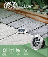 Світильник грунтовий K-2802 LED 18W 230V розмір 180мм * 90мм IP65 GREEN, фото 5